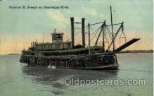 shi008307 - St. Joseph Steamer on Mississippi River, Postcard Postcards