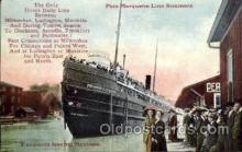 shi008351 - Pere Marquette line Steamers Postcard Postcards