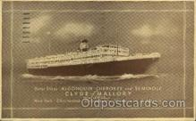 shi008366 - Clyde Mallory Lines, Steamship postcard postcards