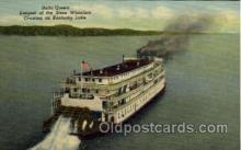 shi008374 - Delta Queen largest of the Stern Wheelers, Cruising on Kentcky Lake, USA Postcard Postcards