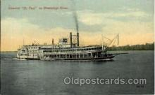 shi008395 - Steamer St. Paul on Mississippi River