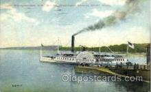 shi008396 - Lake Winnipesaukee, NH, Steamer Mt. Washington leaving Wharf, Weirs, Postcard Postcards
