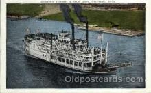 shi008407 - Excursion Steamer on Ohio River, Cincinnati, Ohio, Postcard Postcards