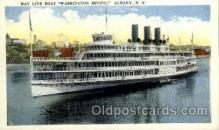 shi008416 - Steamer Washington Irving, Hudson River Day Line, Albany New York USA Postcard Postcards