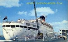 shi008466 - Port Everglades, Florida, USA Steamer Ship Postcard Postcards