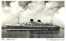shi008532 - M.S. Willem Ruys Steam Ship Postcard Postcards