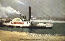 shi008574 - Rock Island Davenport Ferry Steam Ship Postcard Postcards