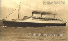 shi008604 - Super Espresso Conte di Savoia Steam Ship Postcard Postcards