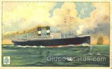 shi008606 - N.G.I Napoli Steam Ship Postcard Postcards