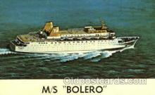 shi008618 - M/S Bolero Steam Ship Postcard Postcards
