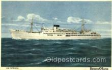 shi008627 - S/S Patricia Steam Ship Postcard Postcards