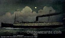 shi008629 - Clyde Steamship Line, S.S. Mowawk, Jacksonville Fla, USA Steam Ship Postcard Postcards