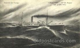 shi008672 - Phrygie cie N. Paquet Steamer Ship Ships Old Vintage Postcard Postcards