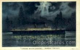 shi008712 - Conte Biancamano Steamer Ship Ships Old Vintage Postcard Postcards