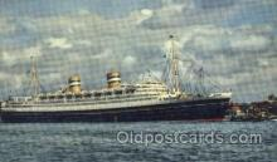 shi008744 - Holland American Line, Nieuw Amsterdam Steamer Ship Ships Old Vintage Postcard Postcards