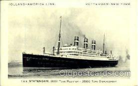 shi008745 - TSS Statendam, Holland American Line Steamer Ship Ships Old Vintage Postcard Postcards