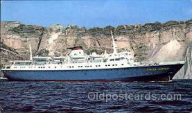 shi008749 - MS. Stella Oceanis, Sun Line Steamer Ship Ships Old Vintage Postcard Postcards
