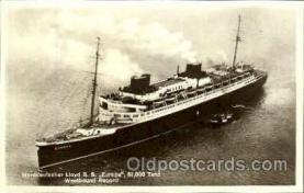 shi008753 - Norddeutschen Lloyd Lloyd, SS Europa Steamer Ship Ships Old Vintage Postcard Postcards