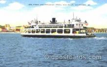 shi008845 - Coronado Ferry, San Diego, CA, USA Steamer Ship Postcard Postcards