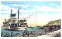shi008859 - River Front, Hannibal, MO, USA Steamer Ship Postcard Postcards