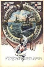 shi008881 - Bermuda W.E. Meyer Steamer Ship Ships Postcard Postcards