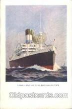 shi008886 - Lamport a holt line Steamer Ship Ships Postcard Postcards