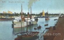 shi008895 - Puerto y Muelle Steamer Ship Ships Postcard Postcards