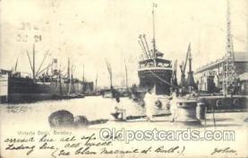 shi008897 - Victoria Dock, Bombay Steamer Ship Ships Postcard Postcards