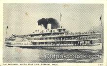 shi008905 - The Tashmoo, white star line, detroit,Mich,USA Steamer Ship Ships Postcard Postcards