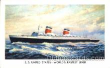 shi008919 - S.S. United States Steamer Ship Ships Postcard Postcards