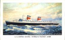 shi008920 - S.S. United States Steamer Ship Ships Postcard Postcards