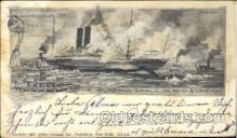 shi008923 - The Blazing Saale in Mid Stream Steamer Ship Ships Postcard Postcards