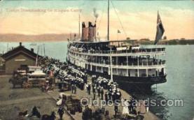 shi008945 - Troops Disembarking for Niagara Camp Steamer Ship Ships Postcard Postcards