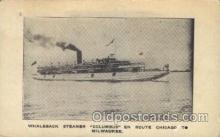 shi008958 - Columbus Steamer Ship Ships Postcard Postcards