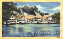 shi008978 - Steamboat races on the river Steamer Ship Ships Postcard Postcards