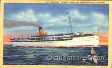 shi008979 - Avalon Bound for Santa Catalina, California,USA Steamer Ship Ships Postcard Postcards