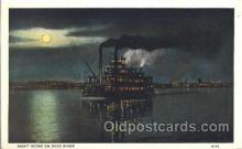 shi008988 - Night scene on Ohio River Steamer Ship Ships Postcard Postcards