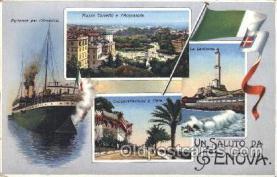 shi008996 - Un Saluto Da Genova Steamer Ship Ships Postcard Postcards