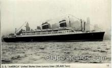 shi009011 - S.S. America United States Lines Luxury Liner Postcard Postcards