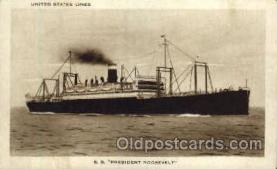 shi009018 - S.S. President Roosevelt Steamer Postcard Postcards