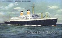 shi009026 - S.S. Independence, American Export Lines postcard postcards