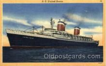 shi009034 - S.S. United States Ship Ships Postcard Postcards