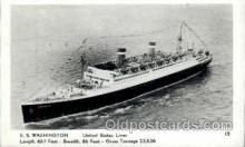 shi009038 - S.S. Washington Ship Ships Postcard Postcards