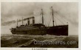 shi009044 - S.S. America Ship Ships Postcard Postcards