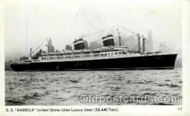 shi009051 - S.S. America Ship Ships Postcard Postcards