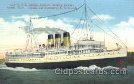 shi009060 - C.P.R.S.S. Princess Kathleen Steamer Ship Ships Postcard Postcards
