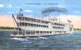 shi009077 - Steamer J.S. Deluxe Steamer Ship Ships Postcard Postcards