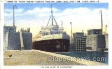 shi009081 - Freighter Down Bound Steamer Ship Ships Postcard Postcards