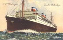 shi009084 - S.S. Washington Steamer Ship Ships Postcard Postcards