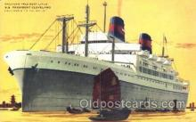 shi009086 - S.S. President Cleveland Steamer Ship Ships Postcard Postcards